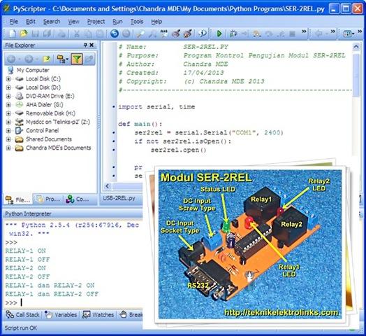 Program Kontrol Driver Relay Serial SER-2REL Menggunakan