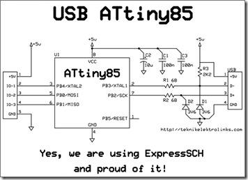 Skematik USB-IOIOIO