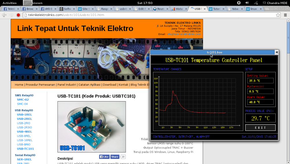 USB-TC101 Linux