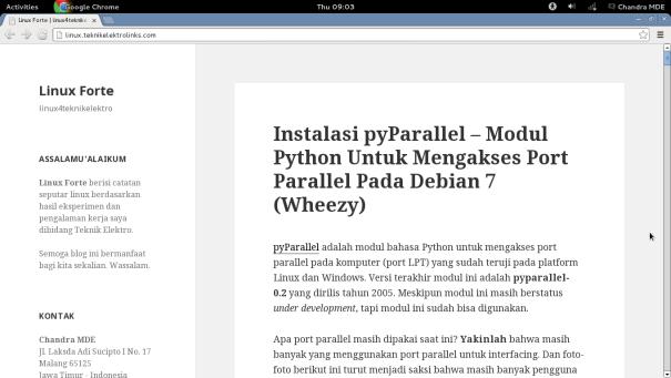 Linux Forte - Instalasi pyParallel