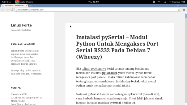 Linux Forte - Instalasi pySerial