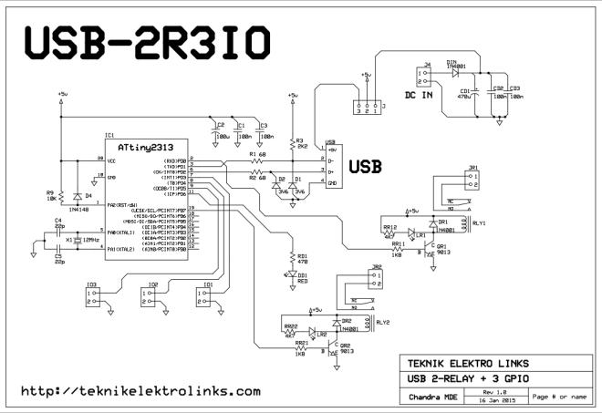 Skematik NEO USB-2R3IO