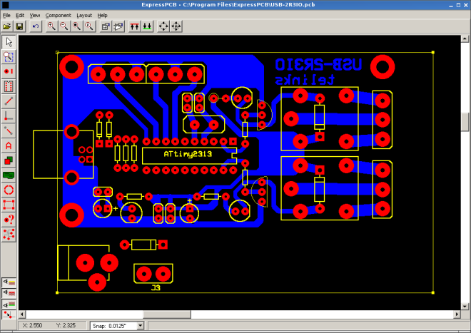 usb2r3io pcb progress