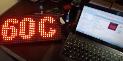 CPU Temperature Dot Matrix P10